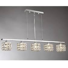 sandra 5 light chrome indoor crystal chandelier with shade