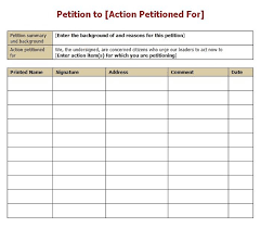 Template For Petition 30 Petition Templates How To Write Petition Guide