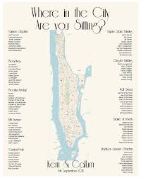 Hamilton Seating Chart Nyc Manhattan Map Seating Chart Nyc Digital Design Printable Pdf Custom Personal Poster Print File Only Where In The City
