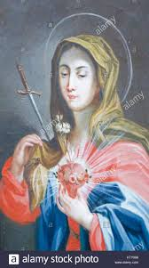 sacred heart of mary painting in saint mang basilica in fussen bavaria germany