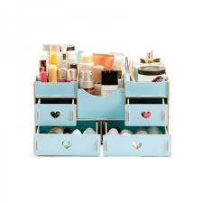 makeup organizer wood. fashion wooden makeup organizer light blue wood p