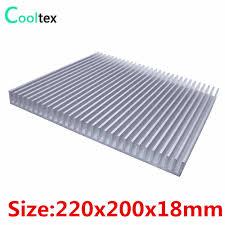 <b>High</b> power 220x200x18mm radiator <b>Aluminum heatsink heat sink</b> ...