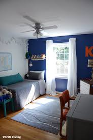 Tween Boys Blue Bedroom Makeover   Cozy Bedroom Using Behr Mosaic Blue,  IKEA Curtains And