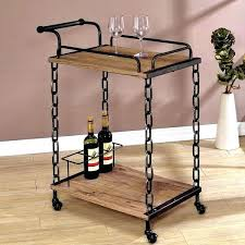 furniture weathered wood shelves details about serving cart industrial chain design rustic weathered wood shelves wine snacks