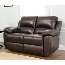 pacific loft westwood casual brown genuine leather reclining loveseat