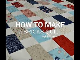 How to make a Bricks Quilt - YouTube & How to make a Bricks Quilt Adamdwight.com