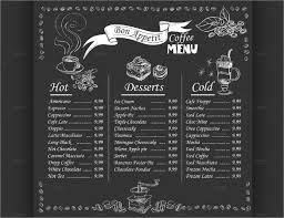 sample chalkboard menu template
