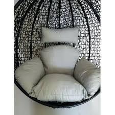 wicker egg chair cushion replacement cushion set for swing egg pod wicker chair grey teardrop resin wicker egg chair cushion