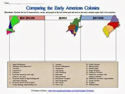 Settlement Of The New England Colonies Chart Chart To Compare And Contrast The Original 13 Colonies