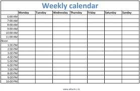 Weekly Calendar With Times Template Outstanding Excel Hourly Schedule Template Ideas Daily
