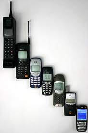first motorola phone. changes: since motorola released the first commercially available mobile phone in 1983 (left) e