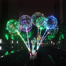 String Light Balloon Us 2 72 20 Off Upgraded Version Luminous Led Balloon Air Balloon String Lights Round Bubble Helium Balloons Wedding Party Decoration In Ballons