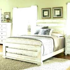 Rustic Wood And Metal Bedroom Furniture Distressed White Bed Me S ...