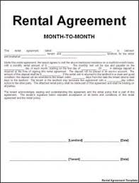 Month To Month Lease Agreement | Template Business