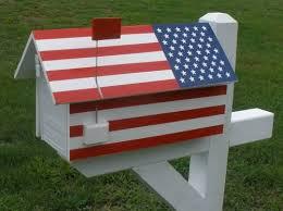 metal mailbox flag. American Flag House Wrap With Metal Mailbox N