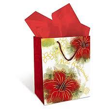 amazon mele kalikimaka hibiscus 3 hawaiian gift bags um 10x8x5 health personal care