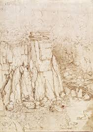 leonardo da vinci between art and science themes and essays  3 leonardo da vinci a rocky ravine c 1475 80 pen and ink windsor royal library 12395 royal collection trust © hm queen elizabeth ii 2012