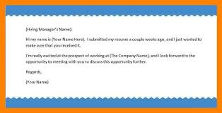 Best Ideas Of Resume Follow Up Email Example Fantastic Follow Up