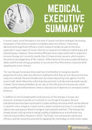 Writing Executive Summary Template Write An Effective Nursing Executive Summary