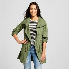 good looking women outerwear four leaf clover twill anorak jacket olive 62yt615 lightweight fabric