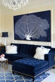 room blue velvet sofa