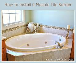 add a glass stone tile border