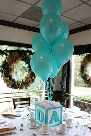 diy baby shower centerpieces boy a letter cube with turquoise