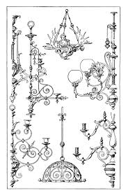 free vintage chandelier clip art ilration