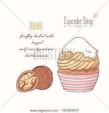Hand Drawn Cupcake Vector Photo Free Trial Bigstock