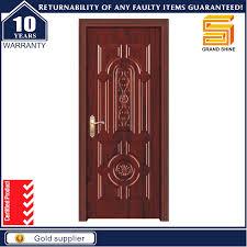 Single Design Door Hot Item Interior Solid Wooden Single Panel Teak Wood Main Door Design