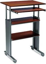 desks desk that raises up beautiful best sit stand desks images on cherry wood desktop and