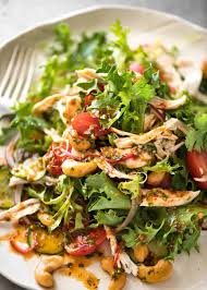chicken salad. Brilliant Salad Thai Chicken Salad With A Bright Zesty Chilli Lime Dressing Classic  Balance Of Tangy Intended