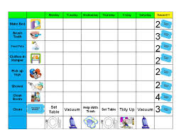 How To Make A Reward Chart For Behaviour Chore Chart For Young Kids Gaels Crafty Treasures Good