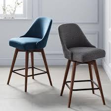 bar and bar stools. Mid-Century Swivel Bar + Counter Stools And O