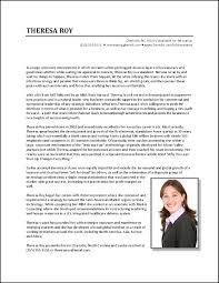 Resume Bio Example Best Resume Bio Therpgmovie 4