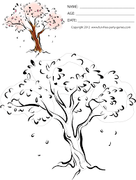Small Picture Cherry Blossom Tree Flower Coloring Page oloring Pages For All