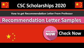 Format Letter Of Recommendation Academic Recommendation Letters Template For Csc Scholarships 2020