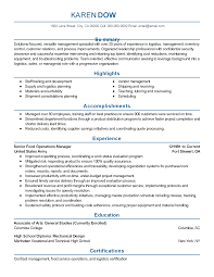 Resume Best Practices Professional Food Operations Manager Templates To Showcase Your