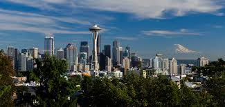 Seattle Cityscape Seattle Skyline Visiting Seattle Today Had To Get The Famo