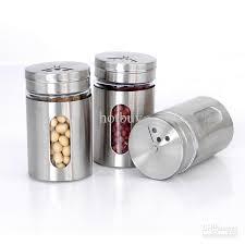 Kitchen Spice Jar Sugar Flour Salt Pepper Shaker Powder Storage