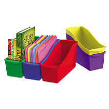 Plastic Magazine Holders For Classroom Mesmerizing Storex Interlocking Book Bins 32223222 X 3222322 X 322322 3222 Color Set