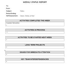 Employee Weekly Status Report Template Priority Matrix Productivity