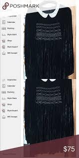 Topshop Velvet Babydoll Dress Size 14 Topshop Velvet