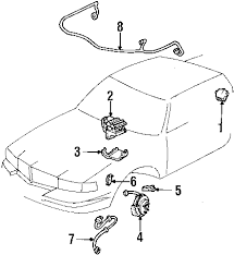 com acirc reg cadillac electrical abs components wire harness rear genuine oem cadillac wire harness