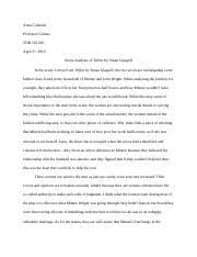 annotated bibliography for trifles by susan glaspell coleman   trifles by susan glaspell · 3 pages scene analysis paper