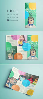 042 School Trifold Flyer Design Templates Free Download Word