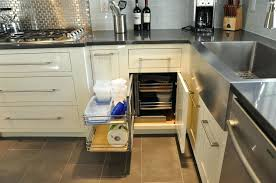 blind cabinet pull out we have the lee valley unit in ours works great utilize all