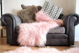 pink sheepskin rug details about genuine pink sheepskin rug long haired super soft and shiny pink pink sheepskin rug