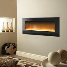cambridge metropolitan 56 in wall mount electric fireplace in black