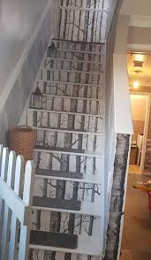 Stairway Wallpaper Design Savvy Woman Transforms Her Dingy Stairs Using Bargain 40